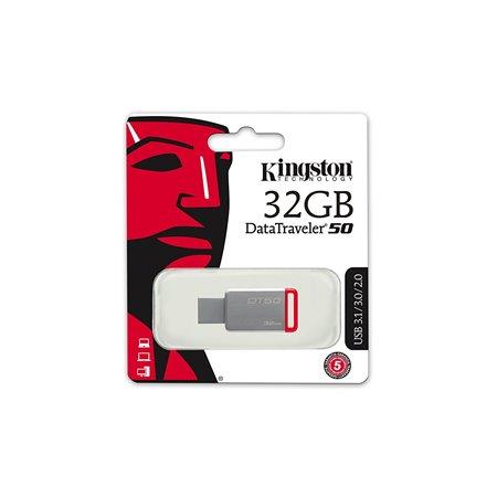 Pen Kingston 32Gb. USB 3.0 Metal (DT50/32GB)