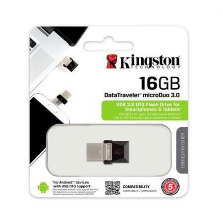 Pendrive Kingston 16Gb. DT Micro Duo 3 USB3+Micro (DTDUO3/16GB)