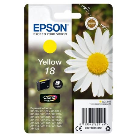 Tinta Epson T1804 Amarillo 180p XP102/202/205/212/215/302/305/312/315/402/405/412/415