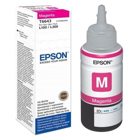 Tinta Epson T6643 Botella 70ml Magenta L300/L355/L555/ET2500/ET2550/ET4500/ET14002