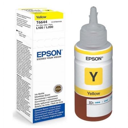 Tinta Epson T6644 Botella 70ml Yellow L300/L355/L555/ET2500/ET2550/ET4500/ET14003