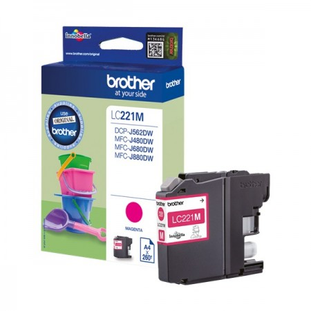 Tinta Brother LC221M Magenta 550p